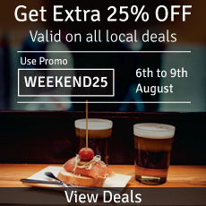 Get 25% off on local deals @ Groupon